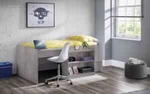 neptune grey oak midsleeper roomset
